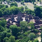 Angkor Temple from the Microlight Aircraft in Siem Reap, Cambodia