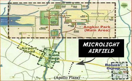 Map to Microlight Cambodia Airfield
